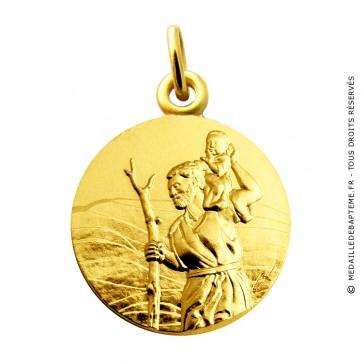 Médaille Saint Christophe Martineau (Or Jaune)
