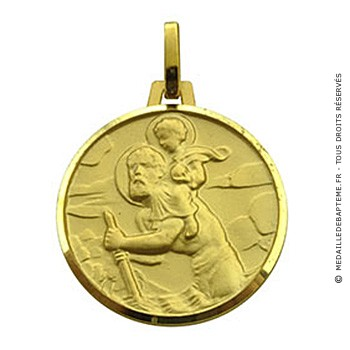 Médaille Saint-Christophe (or jaune)