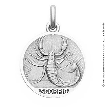 Médaille Zodiaque Scorpion BECKER ( argent)
