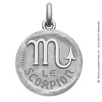 Médaille stylisée Zodiaque Scorpion BECKER ( argent)