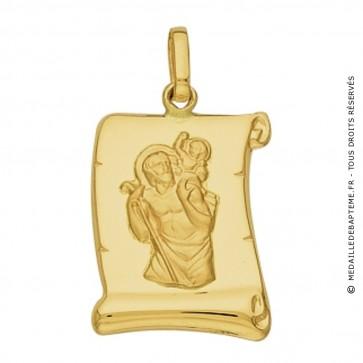 Médaille St Christophe Parchemin