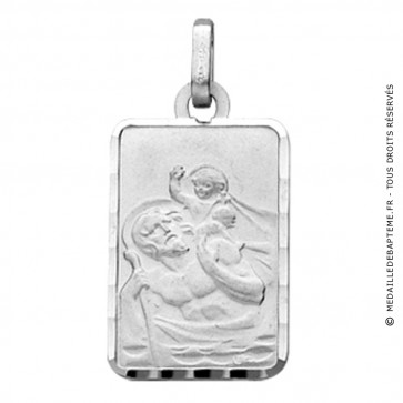 Médaille St Christophe Rectangle