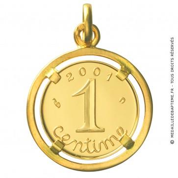 Médaille Un Centime Bijoute 2001 (Or Jaune) - La Monnaie de Paris