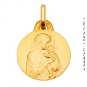 Médaille Vierge à l'enfant auréolée