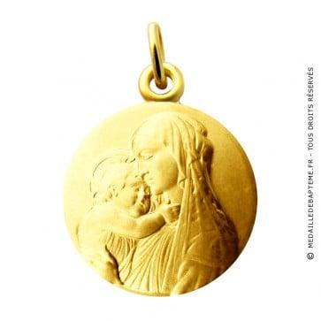 Médaille Vierge à l'enfant Botticelli Martineau (Or jaune)