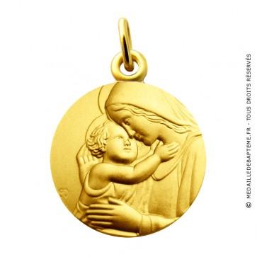Médaille Vierge et l'enfant Martineau (Or Jaune)