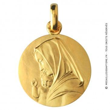 Médaille Vierge à l' Enfant (Or Jaune)