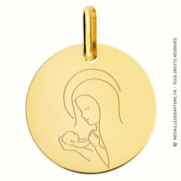 Médaille Vierge à l'Enfant Or jaune