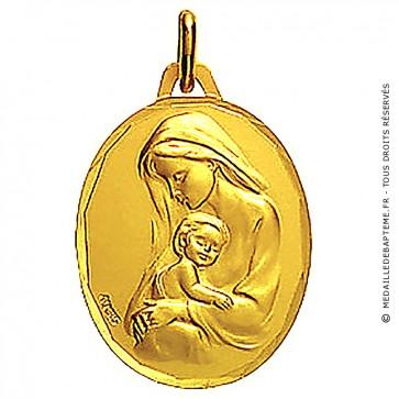 Médaille Augis Vierge maternité profil gauche ciselée