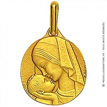 Médaille Augis Vierge à l'enfant (Or Jaune)
