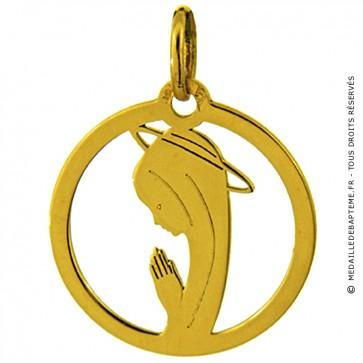 Médaille Augis Vierge ajourée (Or Jaune)