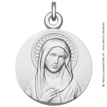 Médaille Vierge argent Magnifique - Médaille de baptême