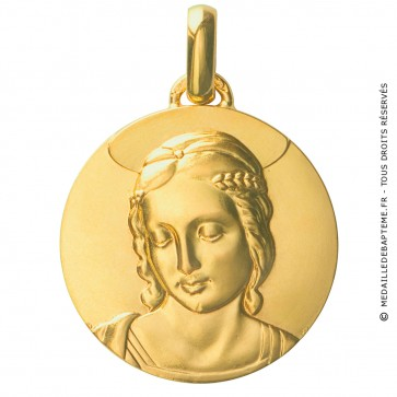 Médaille Vierge au Chardonneret (Or Jaune)