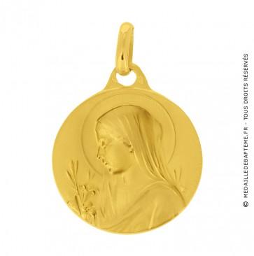 Médaille Vierge au Chignon (Or Jaune)