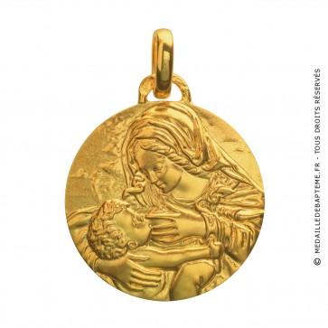 Médaille Vierge au Coussin Vert (Or Jaune)