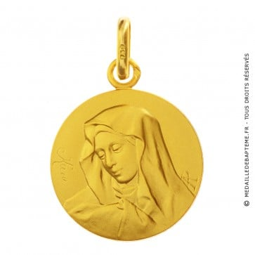 Medaille de bapteme Vierge au pouce