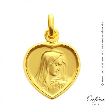 Médaille Vierge au voile Coeur