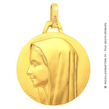 Médaille Vierge au voile Or Jaune