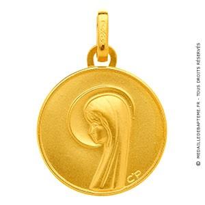 Médaille Vierge auréolée (Or Jaune)