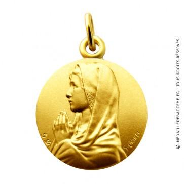 Médaille Vierge en prière aux mains jointes MARTINEAU (Or Jaune)