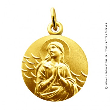 Médaille Vierge Ave Maria Martineau (Or Jaune)