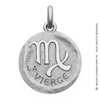 Médaille stylisée Zodiaque Vierge BECKER ( argent)