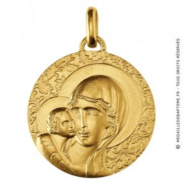Médaille Vierge Byzantine (Or Jaune)