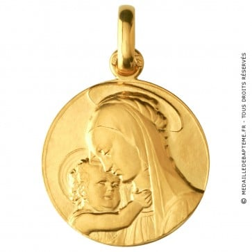 Médaille Vierge de Botticelli (Or Jaune)