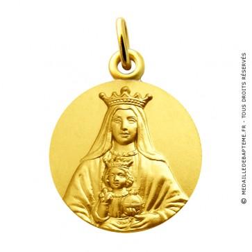 Médaille Vierge Notre Dame Couronnée de Coromoto Martineau (or jaune)