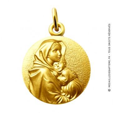 Médaille Vierge à l'Enfant de Ferruzi Martineau (Or Jaune)