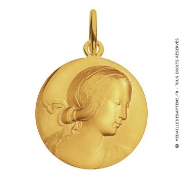 Médaille Vierge de Milan (Or Jaune)