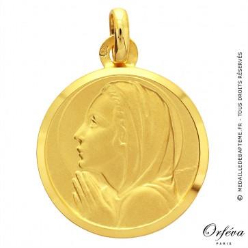 Médaille Vierge en prière avec bords polis