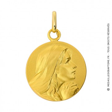 Médaille Vierge en prière aux mains jointes (Or Jaune)