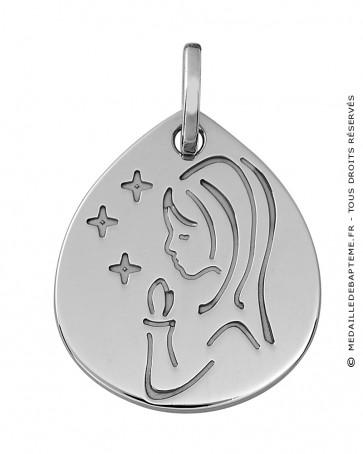 Jeton vierge aux étoiles (Or Blanc)