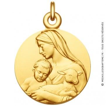 Médaille Vierge à L'Enfant et l'Agneau