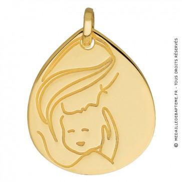 Médaille Maternité goutte (Or Jaune)