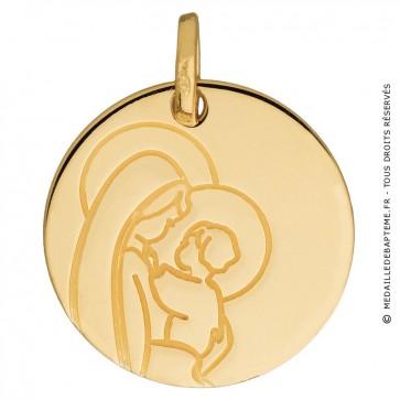 Médaille Vierge Maternité (Or Jaune)