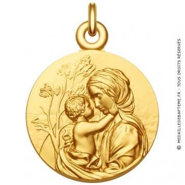 """Médaille Vierge à l'Enfant """"Le Regard"""""""