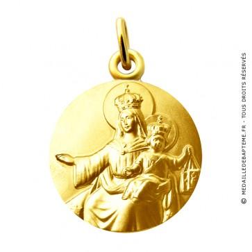 Médaille Vierge et l'enfant aux Scapulaires Martineau (or jaune)