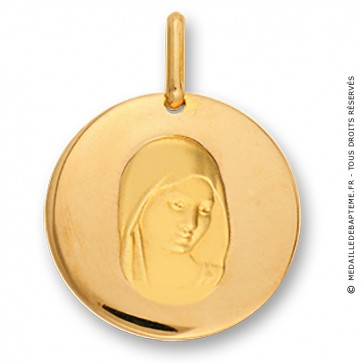Médaille Vierge intaillée (Or Jaune