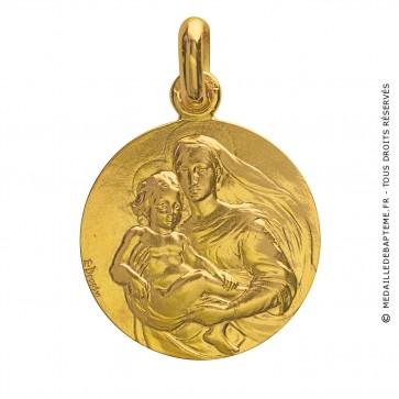 Médaille Vierge Mère (Or Jaune)