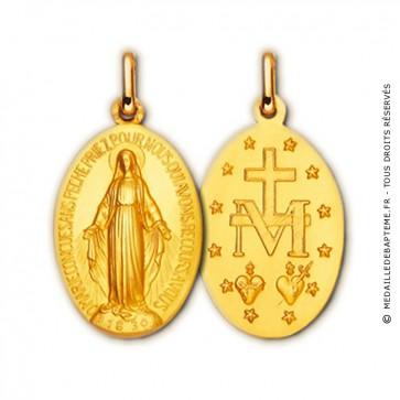 Médaille Vierge miraculeuse (Or Jaune)