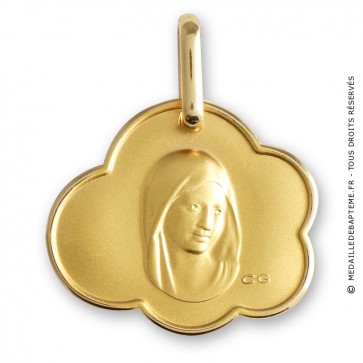 Médaille Vierge nuage (Or Jaune)