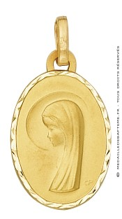 Médaille Vierge Ovale (Or Jaune)