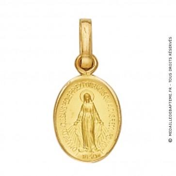 Médaille Vierge Miraculeuse Ovale