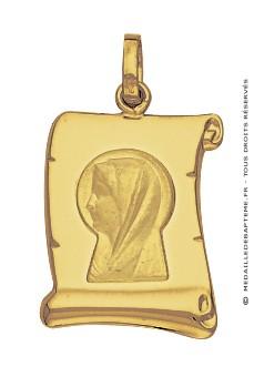 Médaille Vierge Parchemin (Or Jaune)