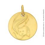 Médaille Amour d'une mère (Or Jaune 9K)