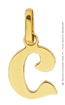 Pendentif Alphabet Lettre C (Or Jaune)