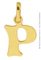 Pendentif Alphabet Lettre P (Or Jaune)