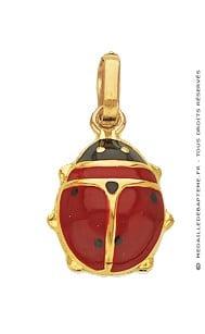 Pendentif Coccinelle Rouge (Or Jaune)